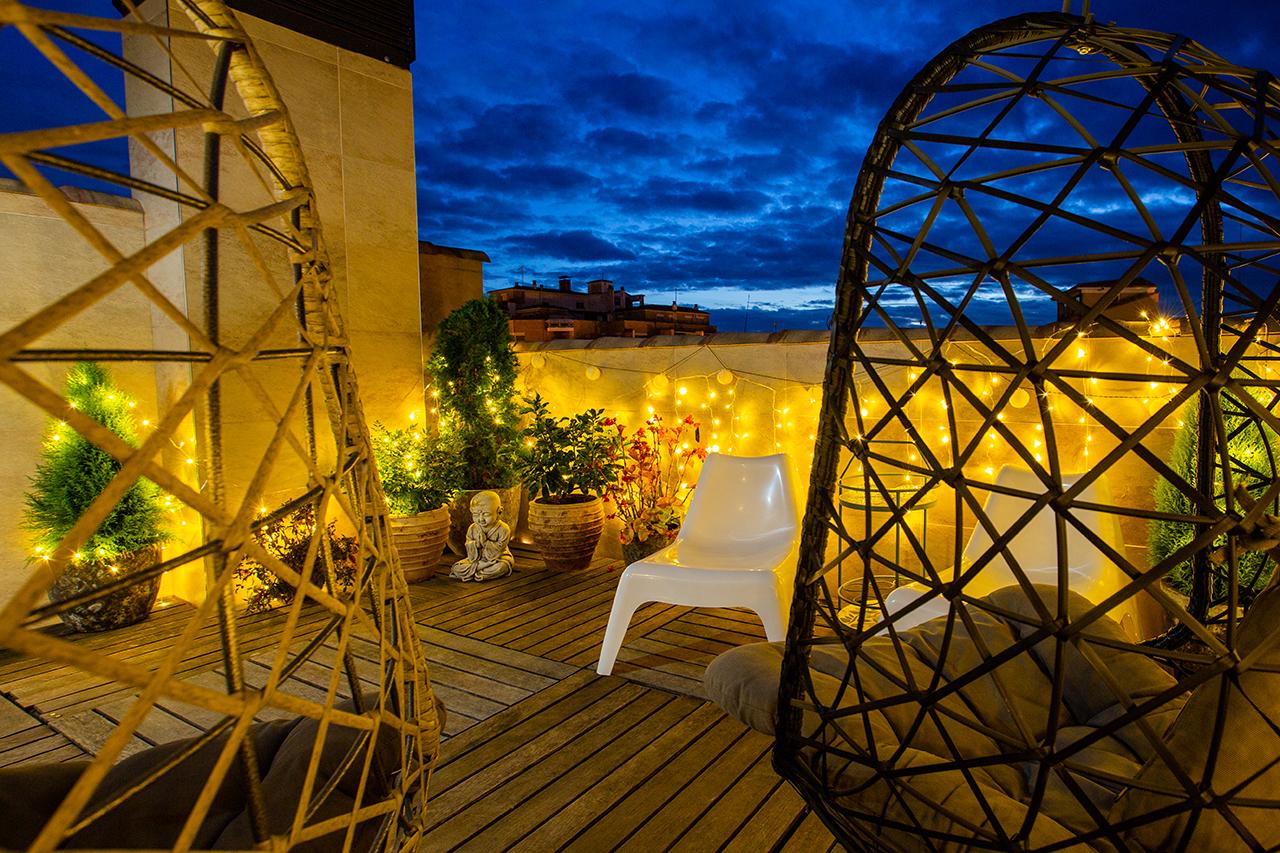 Terraza del Hotel Sancho Abarca