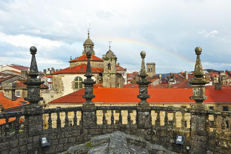 Vistas de Santiago desde las cubiertas de la Catedral