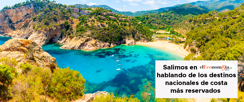 Aparecemos en El Economista comentando los destinos nacionales de costa más reservados de este verano