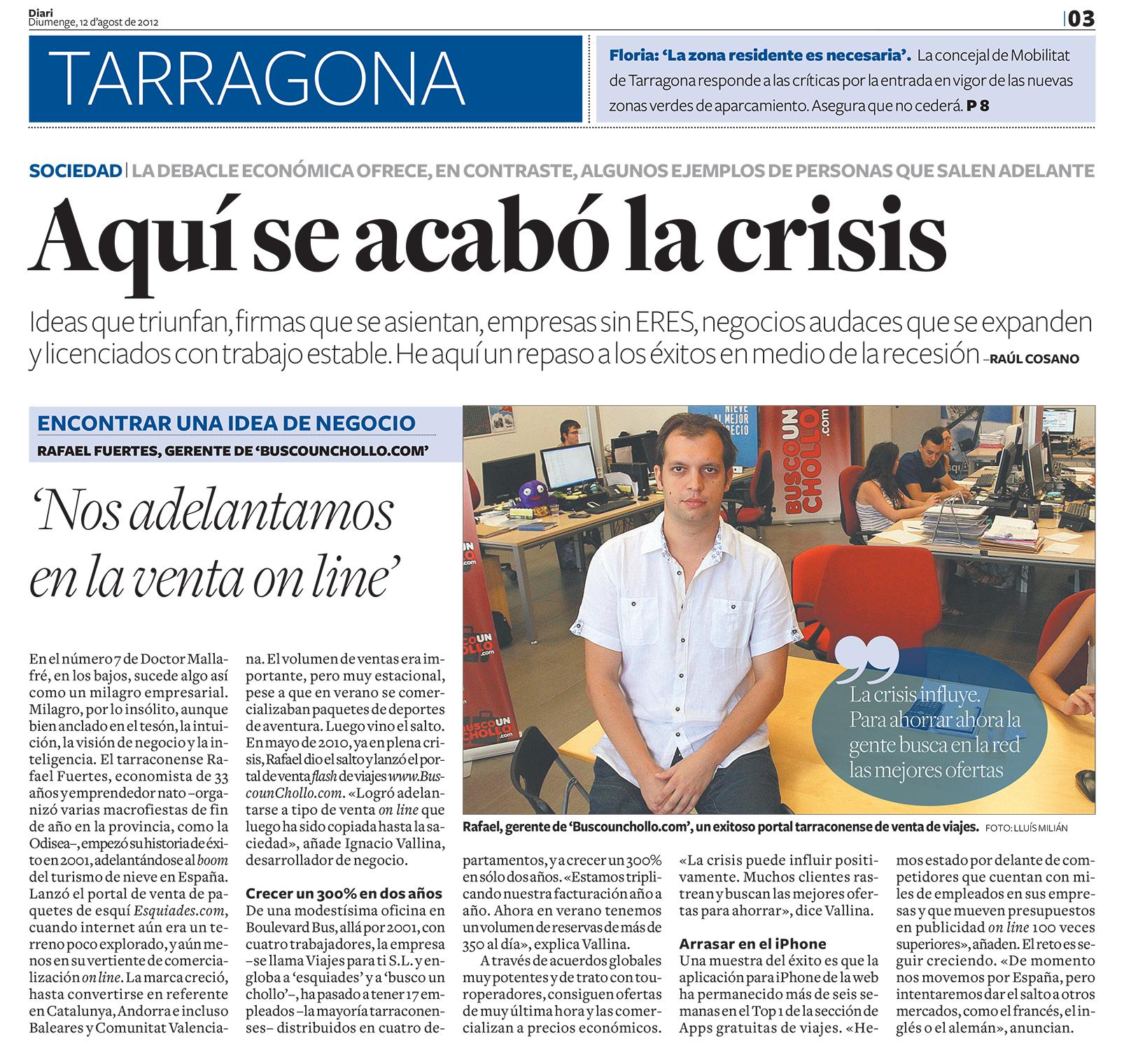 BuscoUnChollo.com en El Diari de Tarragona