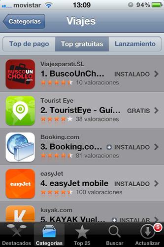 BuscoUnChollo.com Top1 en el App Store de Apple