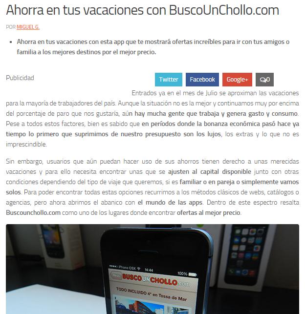 Hablan sobre nuestra app para iphone