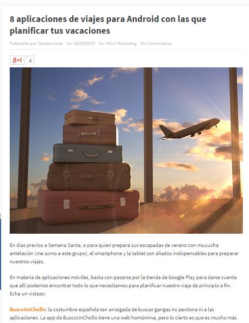 Solo Marketing nos considera una de las mejores webs de vacaciones