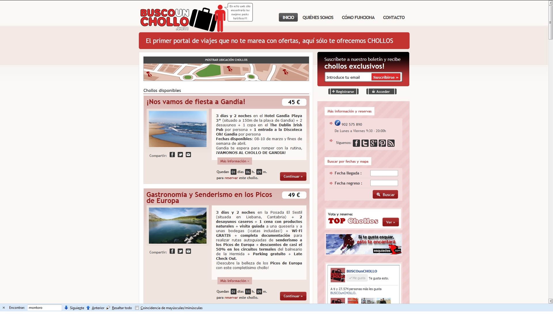 Web de BuscoUnChollo.com