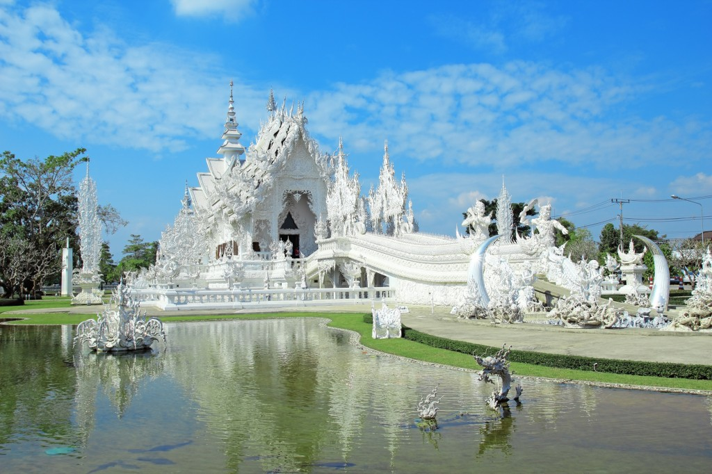 Viaje a Tailandia, templo blanco Rong Khun