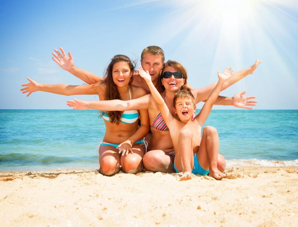 familia vacaciones de verano