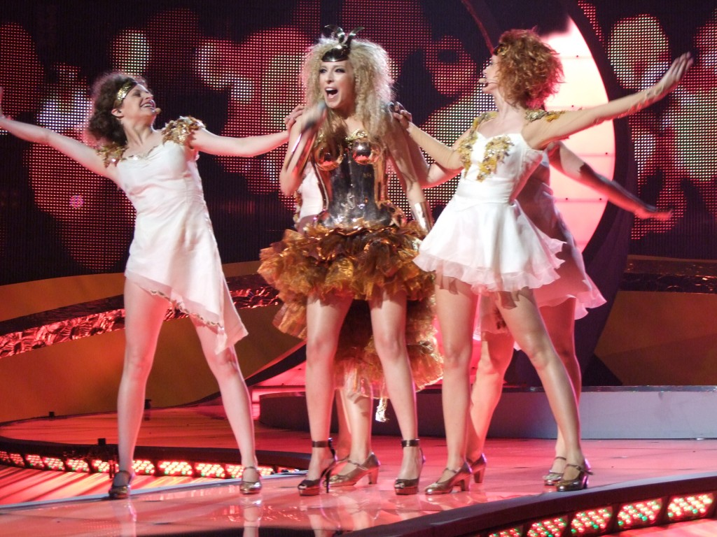 Actuación de Gisela en Eurovisión, en el 2008.