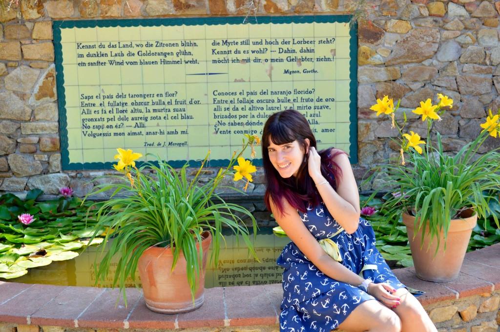 En el jardín botánico de Blanes.