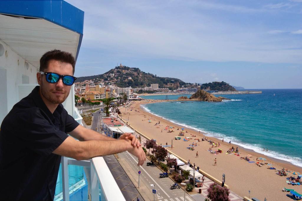 Balcón del hotel Mar Ski 3* de Blanes.