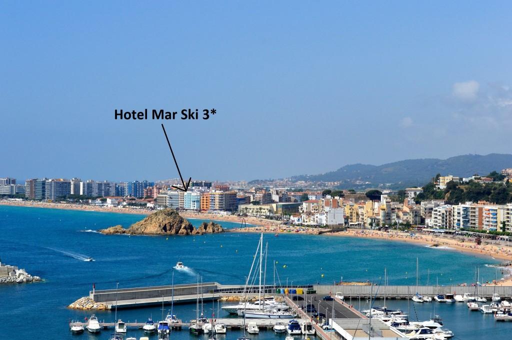 Localización hotel mar ski en blanes