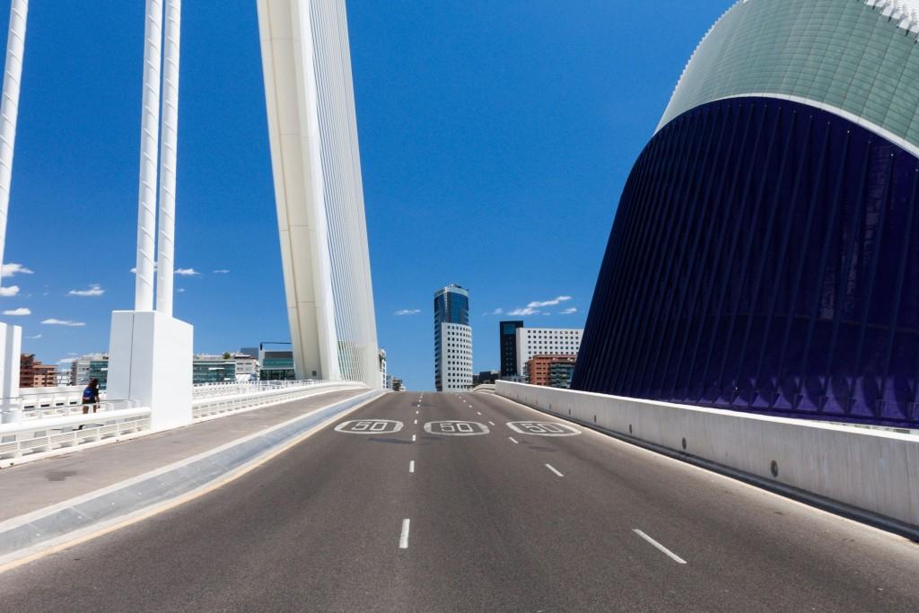 Carretera de entrada a Valencia