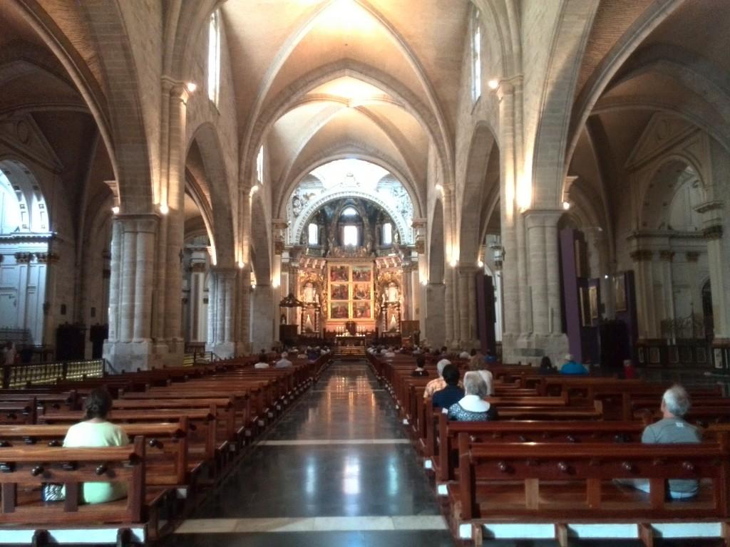 El interior de la Catedral de Valencia