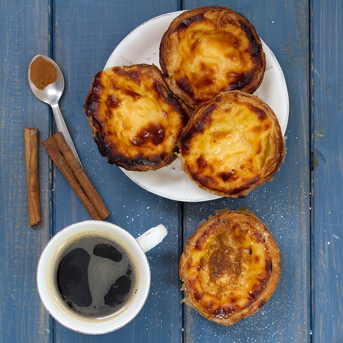 desayuno portugués pastas de nata