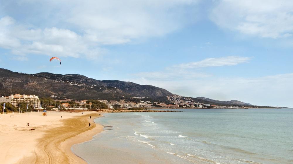A view of Romana beach in Alcocebre, Valencia, Spain