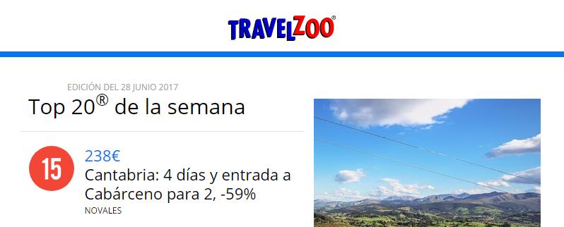 Nuestros chollos aparecen en el TOP 20 de TravelZoo