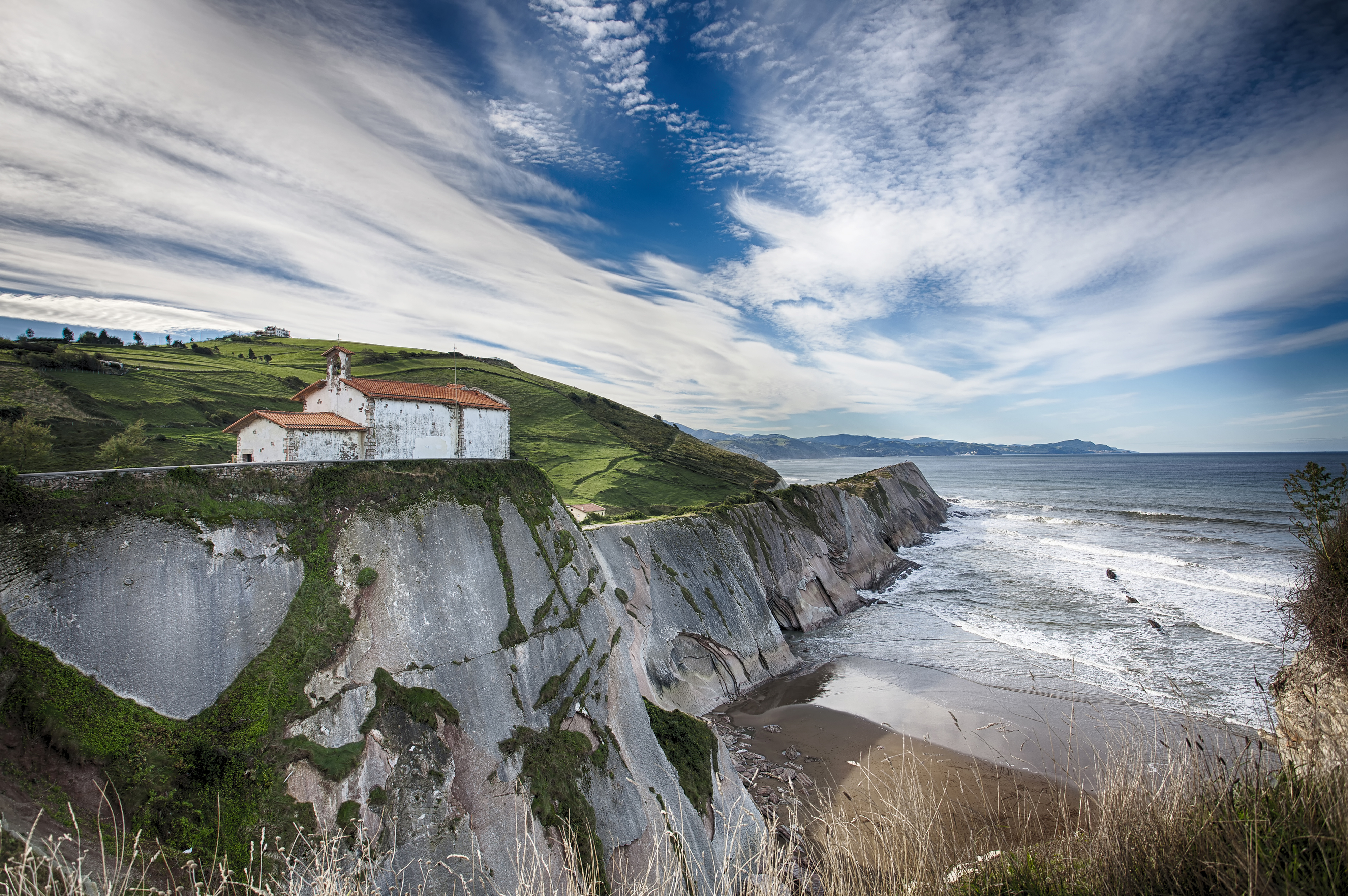 Hermitage of San Telmo Zumaia Basque country in Spain