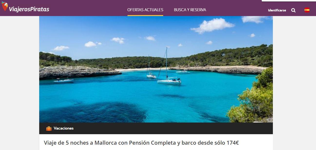¡Viajeros Piratas publica un chollo a Mallorca!