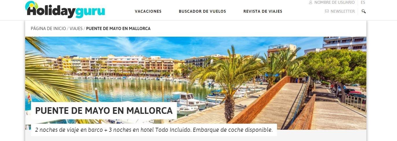 Holidayguru publica uno de nuestros chollos en Mallorca