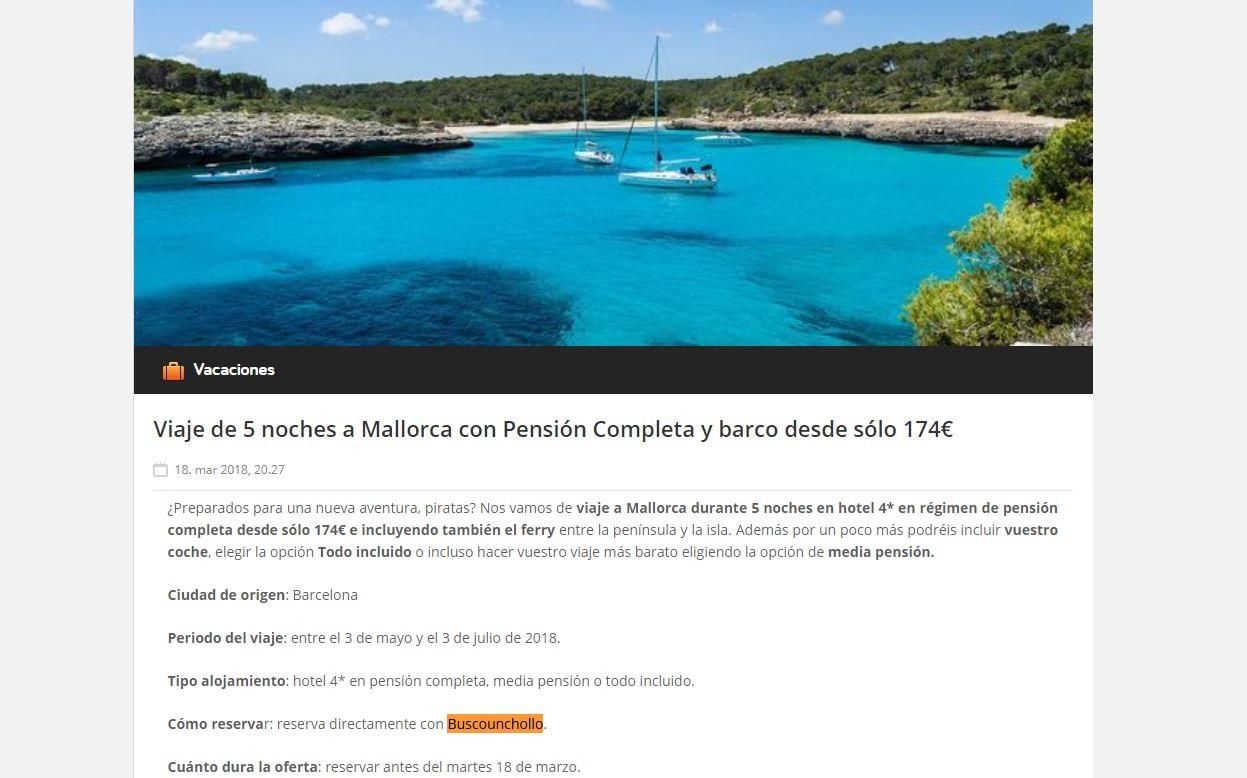 Viajeros piratas Mallorca