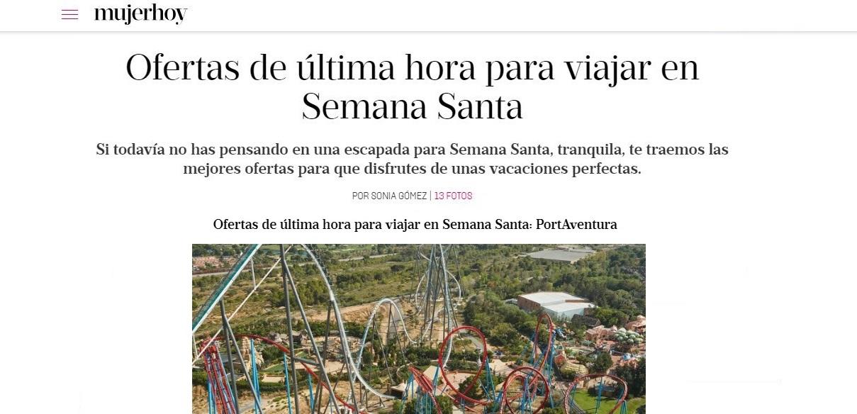 """""""Buscounchollo.com ofrece un planazo para Semana Santa"""" – Mujerhoy"""