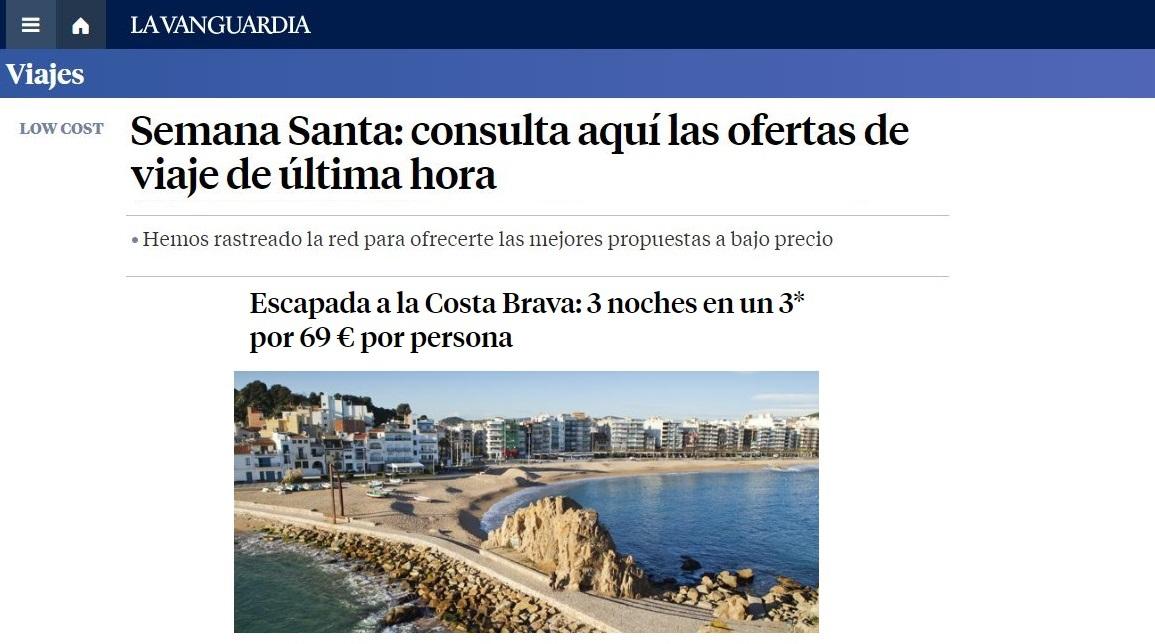 ¡La Vanguardia vuelve a destacar nuestras ofertas en su web!