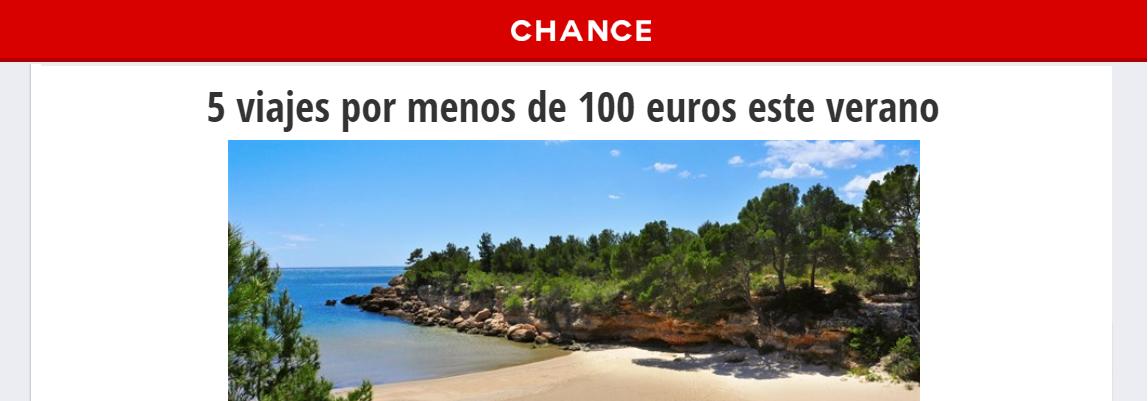 Europapress menciona nuestra web para encontrar los mejores chollos de viajes en España