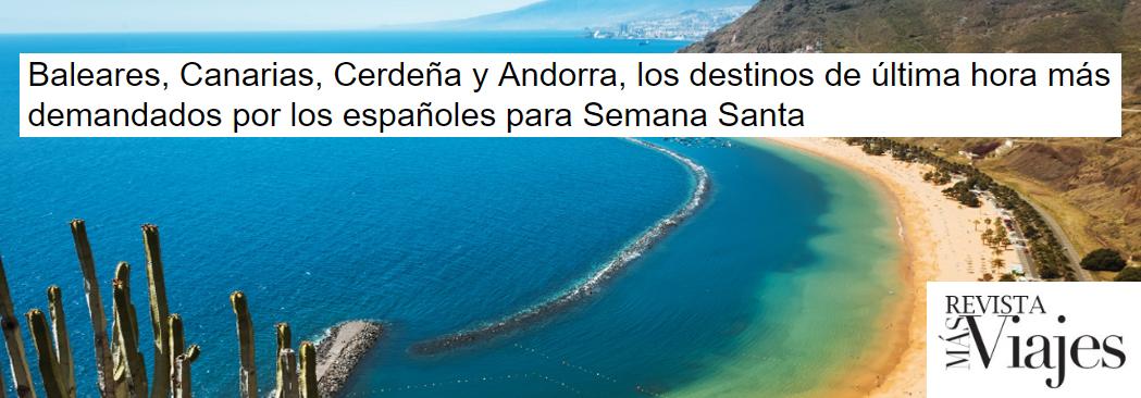 La Revista Más Viajes explica el último análisis presentado por BuscoUnChollo.com