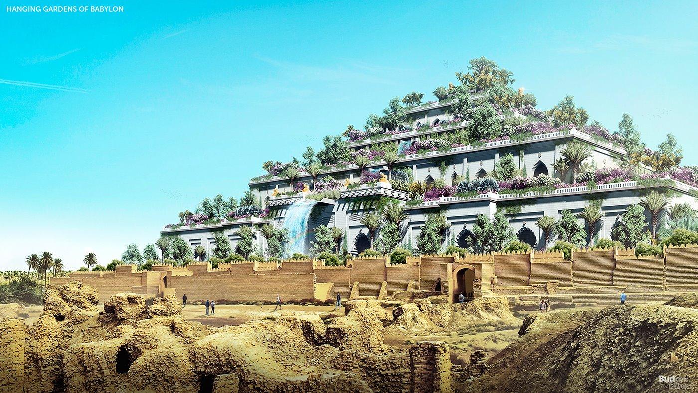 Así es como lucirían hoy en día los Jardines Colgantes de Babilonia, impresionante ¿verdad?