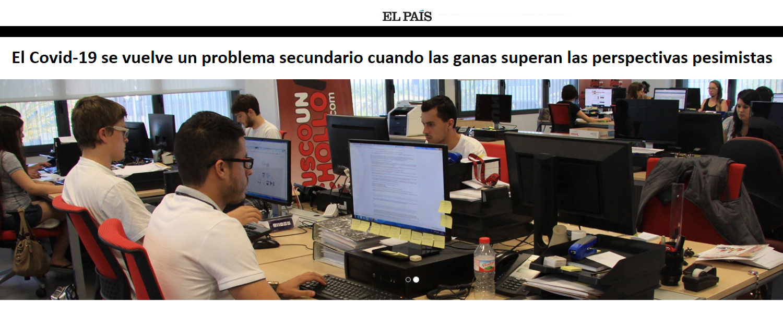 El País: Un emprendedor que desafía los malos augurios para el turismo