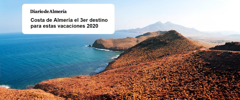 Diario de Almería nos cita ya que su costa es la tercera provincia en reservas este junio